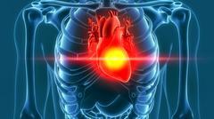 human heart pain 3d rendering - stock illustration