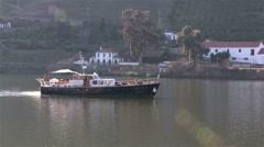 River Cruising along Douro. Stock Footage