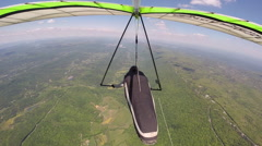 Hang Glider Flying Straight High Altitude Stock Footage