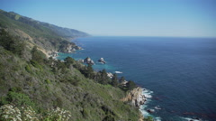 Late afternoon in Big Sur Stock Footage