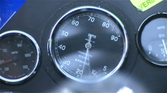 Formula car speedometer - stock footage
