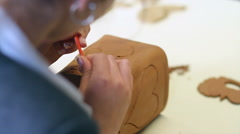 Handicraft pottery Stock Footage