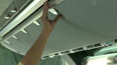 Bus luggage compartment - stock footage