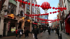 Soprano busker at Chinatown, London, UK Stock Footage