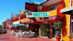 Luxurious tourist motel in the tropical city of Ensenada, Mexico Stock Footage