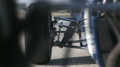 Formula car axis - stock footage