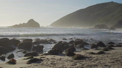 View of a rocky Pfeiffer beach Stock Footage