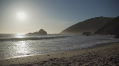 Pfeiffer beach in early spring Stock Footage