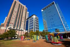Houston Discovery green park in downtown Kuvituskuvat