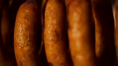 "Portuguese traditional sausage ""alheira"" Stock Footage"