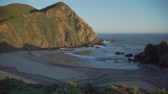 Sunset view of inlet at Pfeiffer beach Stock Footage