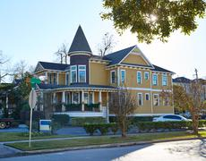 Houston heights victorian style houses Texas - stock photo