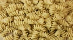 Prepared spiral pasta blurred closeup Stock Footage