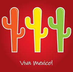 """Viva Mexico"" paper cut out card in vector format. Stock Illustration"