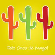 Cinco de Mayo paper cut out card in vector format. - stock illustration