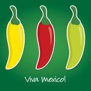 """""""Viva Mexico"""" paper cut out card in vector format. Stock Illustration"""