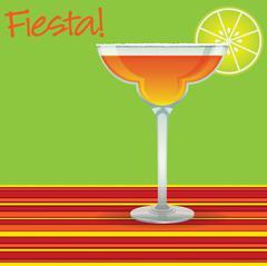 """""""Fiesta!"""" Margarita card in vector format. - stock illustration"""