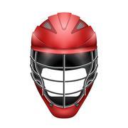 Lacrosse Helmet Front View - stock illustration