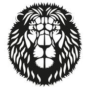 Symbol head of the lion - stock illustration