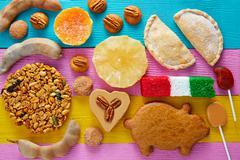 Mexican sweets and pastries cajeta tamarindo Stock Photos