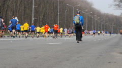 KHARKIV, UKRAINE : City marathon. Stock Footage