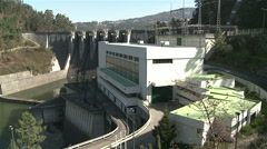 General shot of Dam. Stock Footage