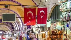 Grand Bazaar. Istanbul, Turkey. Zoom out Stock Footage