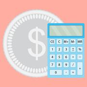 Count money calculator vector Stock Illustration