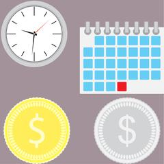 Financial management. Time is money Stock Illustration
