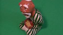 Figurine - Uzbek with pilaf Stock Footage