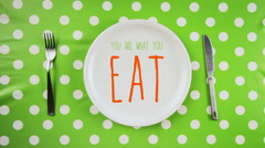 You are what you eat, dieting concept - stock footage