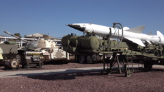 Nellis AFB Nevada Threat museum enemy Soviet tanks 4K Stock Footage