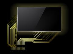 Circuit board with screen Stock Illustration