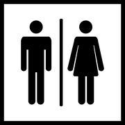 Vector Restroom icon Stock Illustration