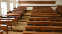 Empty auditorium for lectures. - stock footage