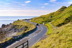 Antrim Coastal Road in Northern Ireland, UK Stock Photos