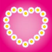 Flower Heart Love Mothers Valentines Day - stock illustration