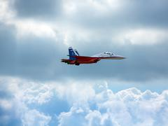 "ZHUKOVSKY, MOSCOW - AUG 16: Russian fighter aircraft MIG-29 at ""AirShow Furio - stock photo"