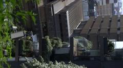 Living Green Wall vertical garden maintenance, Central Park Sydney Stock Footage