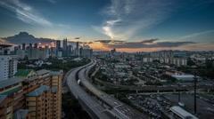 4K Cityscape Timelapse Blue Hour Stock Footage