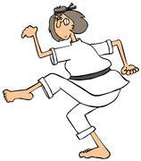 Karate Mom - stock illustration