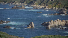 Morning view of rocky cove in Big Sur Stock Footage