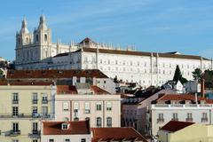 Monastery of Sao Vicente de Fora and Porto Pantheon view - stock photo