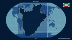 Burundi - 3D tube zoom (Kavrayskiy VII projection). Solids Stock Footage