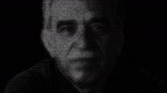 Writer Gabriel Garcia Marquez Face Animation Stock Footage