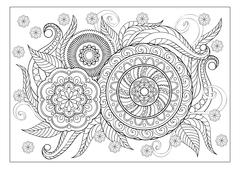 image for adult coloring page - stock illustration