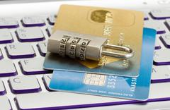 internet transaction security concept - stock photo