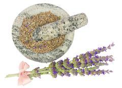 Lavender flowers spa - stock photo