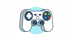 Simple gamepad rotation 360 degrees - stock footage