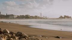 Seashore of Sidon, Lebanon Stock Footage